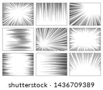 comic book speed lines set ... | Shutterstock .eps vector #1436709389