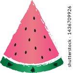 a slice of watermelon. juicy...   Shutterstock .eps vector #1436709926