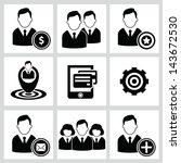 business and human resource... | Shutterstock .eps vector #143672530