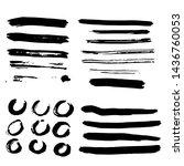 brush strokes  round lines... | Shutterstock .eps vector #1436760053