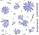 floral seamless pattern with... | Shutterstock .eps vector #1436763593