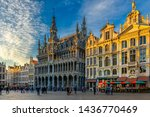 Small photo of Grand Place (Grote Markt) with Maison du Roi (King's House or Breadhouse) in Brussels, Belgium. Grand Place is important tourist destination in Brussels. Cityscape of Brussels.
