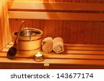 cosy atmosphere in the sauna at ... | Shutterstock . vector #143677174