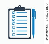 check list icon. flat style... | Shutterstock .eps vector #1436771870