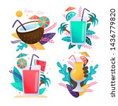 exotic drinks advertising... | Shutterstock .eps vector #1436779820