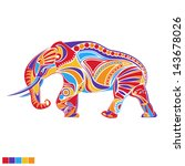 painted vector elephant | Shutterstock .eps vector #143678026