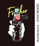 fresher slogan with hand...   Shutterstock .eps vector #1436780450
