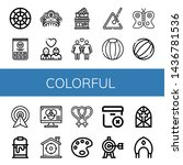 Set Of Colorful Icons Such As...