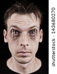 workaholic or sleepless man.... | Shutterstock . vector #143680270