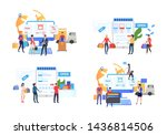 collection of people buying... | Shutterstock .eps vector #1436814506