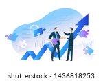flat design concept of business ... | Shutterstock .eps vector #1436818253