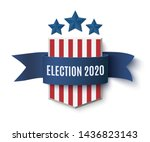 2020 presedential election... | Shutterstock . vector #1436823143