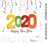 happy new year 2020. abstract... | Shutterstock . vector #1436823146
