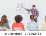 interior designer pointing at... | Shutterstock . vector #143682496