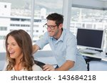 smiling designers playing on a... | Shutterstock . vector #143684218