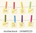 vector colorful clothespin ... | Shutterstock .eps vector #143685223