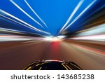 car on the road with motion... | Shutterstock . vector #143685238