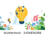 flat design concept of creative ... | Shutterstock .eps vector #1436856386