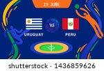 uruguay vs peru _championship...   Shutterstock .eps vector #1436859626