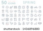 set of line icons of spring for ... | Shutterstock . vector #1436896880