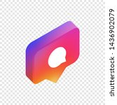 comment isometric icon  social... | Shutterstock .eps vector #1436902079