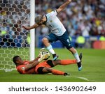 Small photo of RIO DE JANEIRO, BRAZIL - June 28, 2019: XXXXX of Argentina kicks the ball during the 2019 Copa America Quarter-Finals against Venezuela at Maracana Stadium