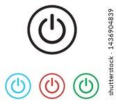 power button icon vector... | Shutterstock .eps vector #1436904839