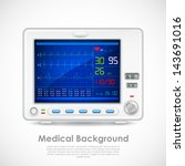 illustration of ecg machine... | Shutterstock .eps vector #143691016