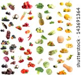 collage of fruits and... | Shutterstock . vector #143691364