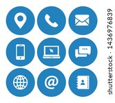 contact us icons symbol vector | Shutterstock .eps vector #1436976839