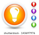 light bulb icons on round... | Shutterstock .eps vector #143697976