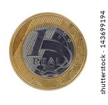 One Single Brazilian Real Coin...