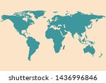 the green world map isolated on ... | Shutterstock .eps vector #1436996846