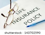 insurance policy  | Shutterstock . vector #143702590