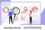 the financial analysis. people...   Shutterstock .eps vector #1437039290