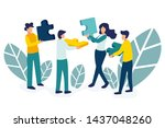 business concept. team metaphor.... | Shutterstock .eps vector #1437048260