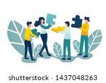 business concept. team metaphor....   Shutterstock .eps vector #1437048263