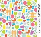 pregnant illustration seamless...   Shutterstock .eps vector #143706808
