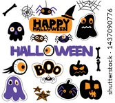vector collection halloween ... | Shutterstock .eps vector #1437090776