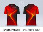t shirt polo templates design.... | Shutterstock .eps vector #1437091430