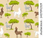 seamless pattern background... | Shutterstock .eps vector #1437091529