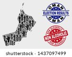 Election Oman Map And Seal...