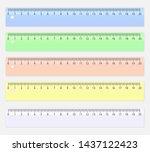 ruler for measuring length.... | Shutterstock .eps vector #1437122423