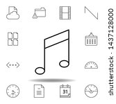 key music tone note outline...