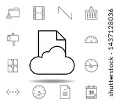 cloud data file outline icon....