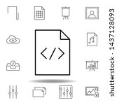code paper html sheet outline...