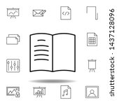 book log bookmark outline icon. ...