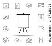 art board deck easel outline...