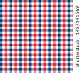 gingham pattern red and blue.... | Shutterstock .eps vector #1437141569