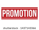 promotion rubber stamp.... | Shutterstock .eps vector #1437143366